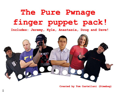 Pure Pwnage Finger Puppets Pack!